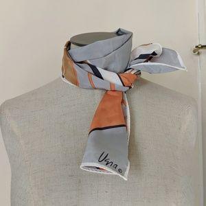 Vera Vintage rare 80's silk geometric print scarf